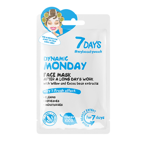 7 Days Dynamic Monday Sheet Mask 3pcs €1.50 ea