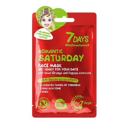 7 Days Romantic Saturday Sheet Mask 3pcs €1.50 ea