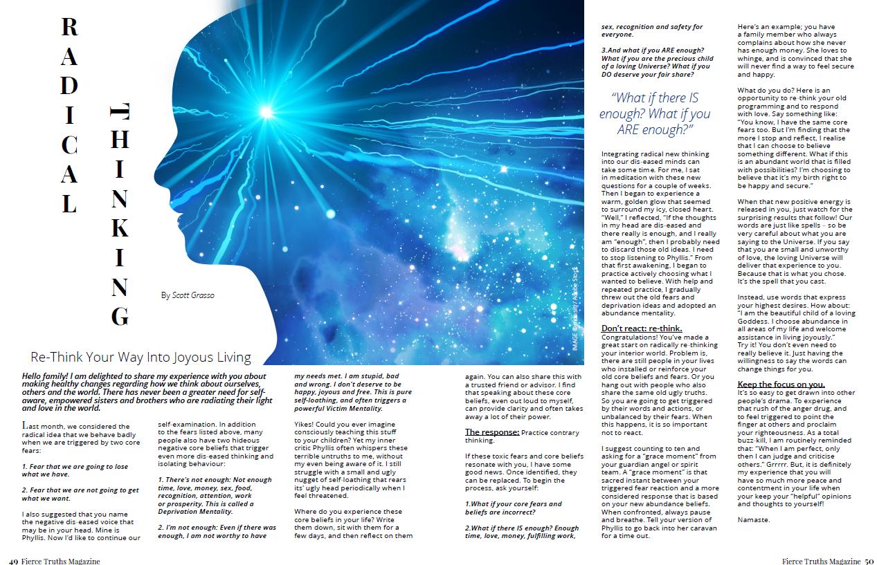 Radical Thinking - Fierce Truths Magazine
