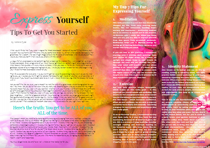 Express Yourself - Fierce Truths Magazine