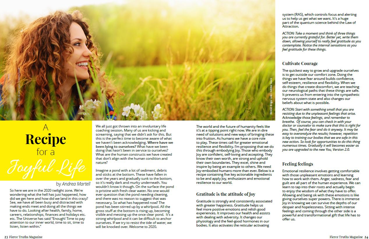 A Recipe for a Joyful Life - Fierce Truths Magazine