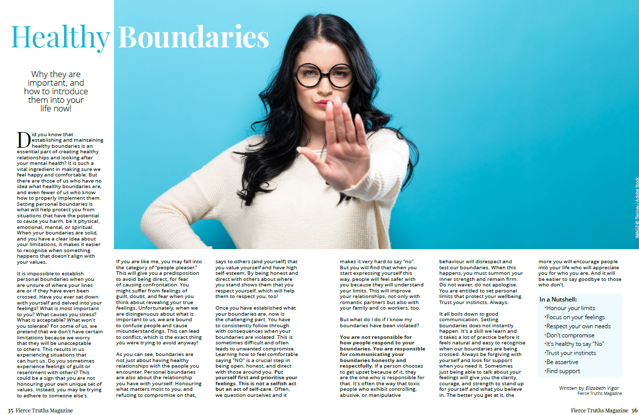 Healthy Boundaries - Fierce Truths Magazine