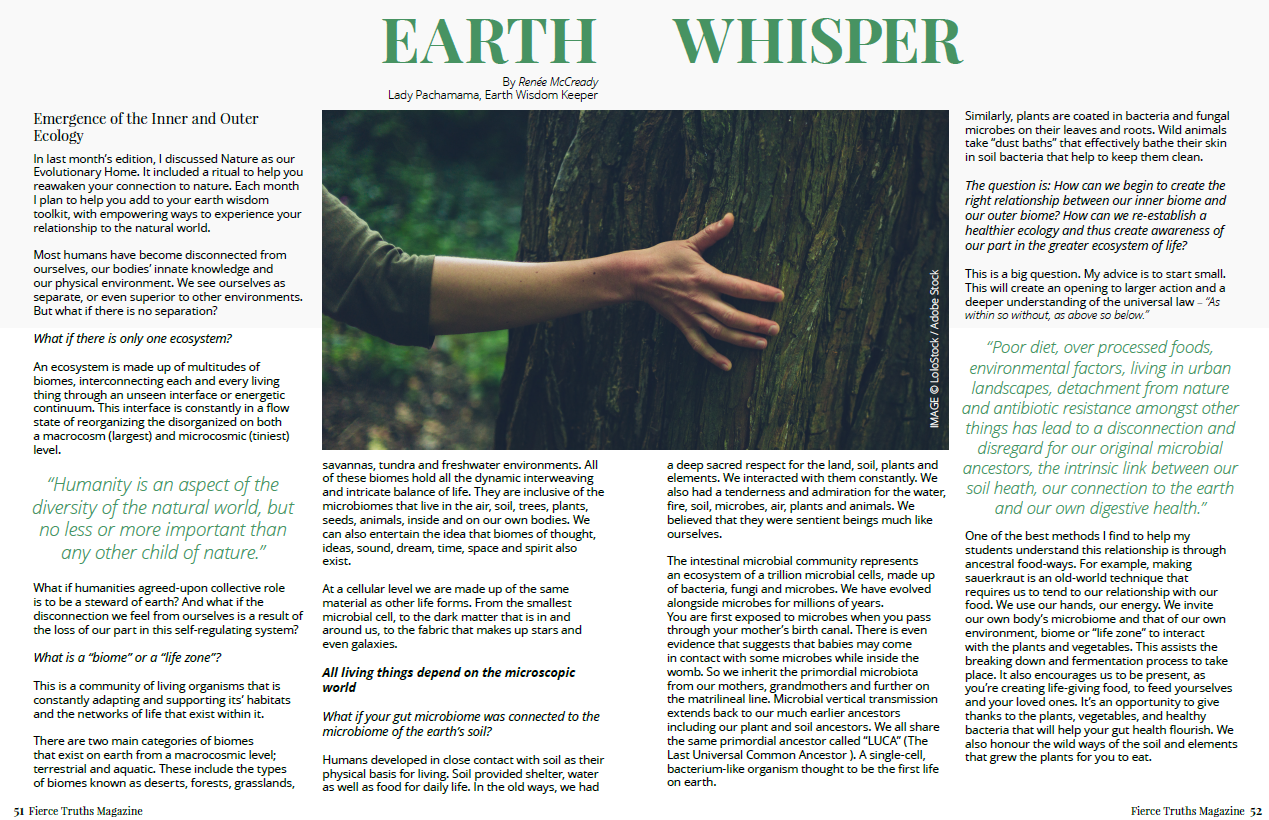 Earth Whisper - Fierce Truths Magazine