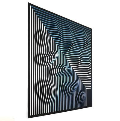 Curves 10 (side) Acrilico y pvc sobre tablero 138 x 125 cm