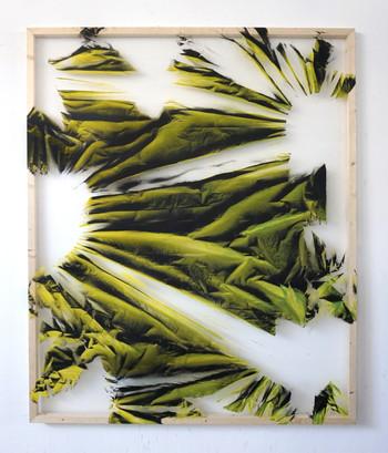 Relieves efimeros 5 Spray sobre polietileno y vinilo transparente 160 cm x 130 cm