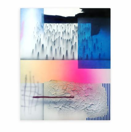 Comp 1 Mixed media on canvas 160 x 130 cm