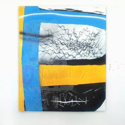 Comp 2 Mixed media on canvas 160 x 130 cm