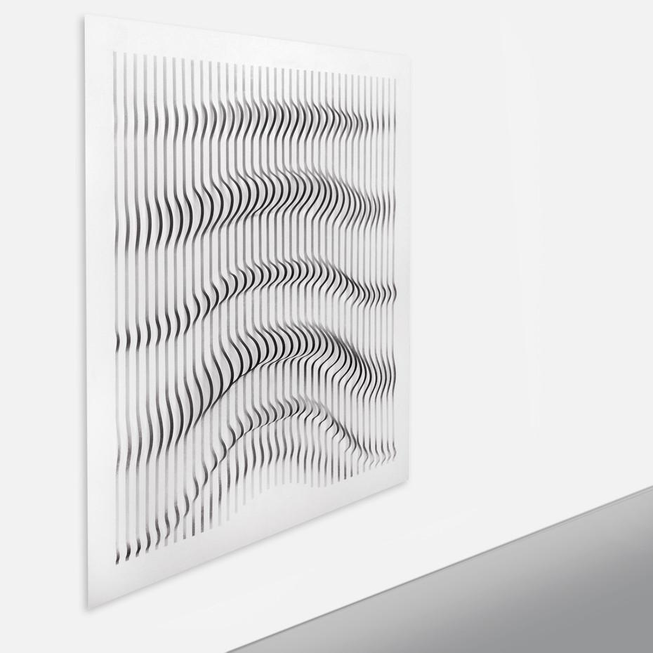 Curves 1 Acrilico y papel sobre tablero 138 x 125 cm