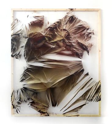 Relieves efimeros 10 Spray sobre polietileno y vinilo transparente 160 cm x 130 cm
