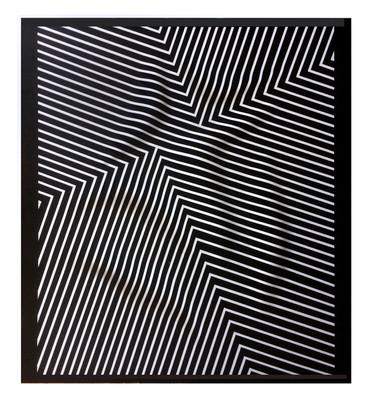Curves 7 Acrilico y papel sobre tablero 138 x 125 cm