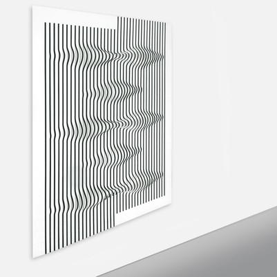 Curves 2 Acrilico y papel sobre tablero 138 x 125 cm