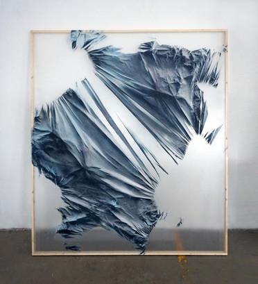 Relieves efimeros 11 Spray sobre polietileno y vinilo transparente 160 cm x 130 cm