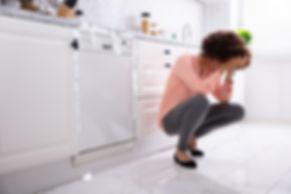 clogged dishwasher