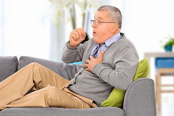 Health Issues Caused By Pipe Leaks Man Coughing