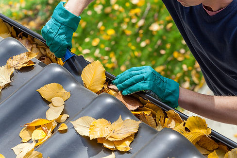 how to clean roof drain gutters