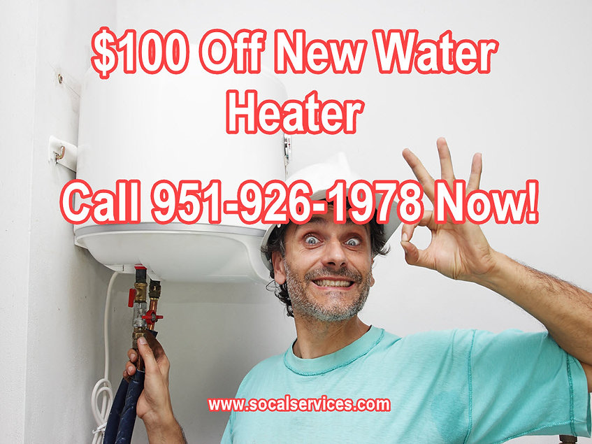100 off new water heater repair, coupons, water heater coupons