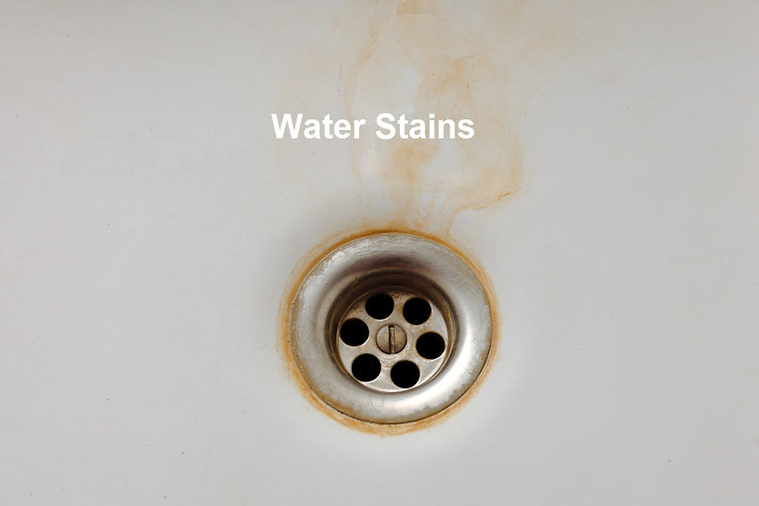 water stains, household water stains, causes of water stains