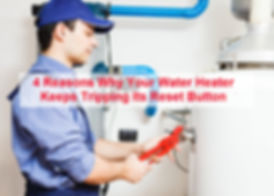 water heater reset button tripping