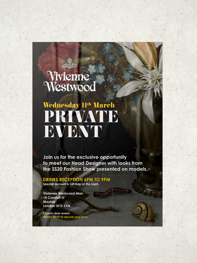 Event Invites for Vivienne Westwood