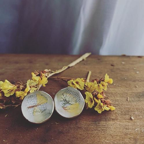 Yellow Sea Lavender Studs