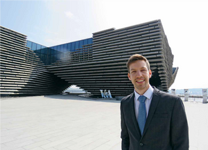 Chair of the Scottish Cities Alliance, Councillor John Alexander, pictured outside Dundee's new V&A museum, says collaboration is at the heart of everything the Alliance does and that collaborative spirit is a key value underpinning the 8th City Program