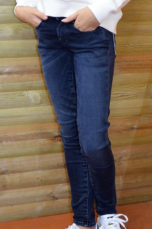 Jeans Slim bleu/noir - Le Temps des Cerises