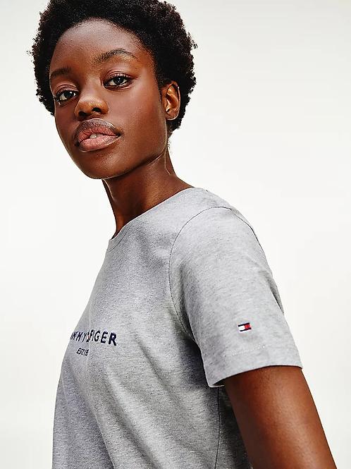 T-shirt Logo gris - Tommy Hilfiger