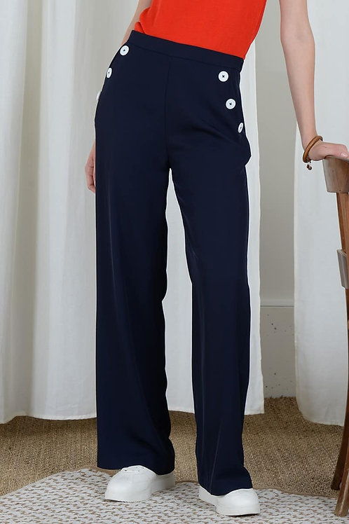 Pantalon  fluide bleu  MOLLY BRACKEN