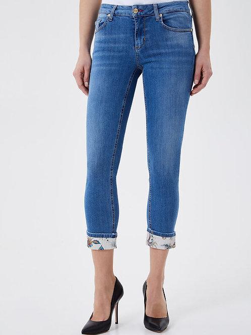 Jeans slim avec revers LIUJO