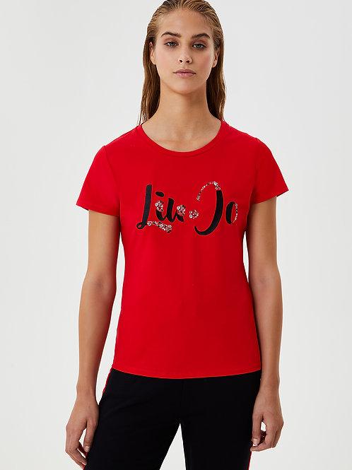 T-shirt Liu Jo avec application de pierres