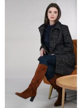 Manteau droit chiné - Molly Bracken