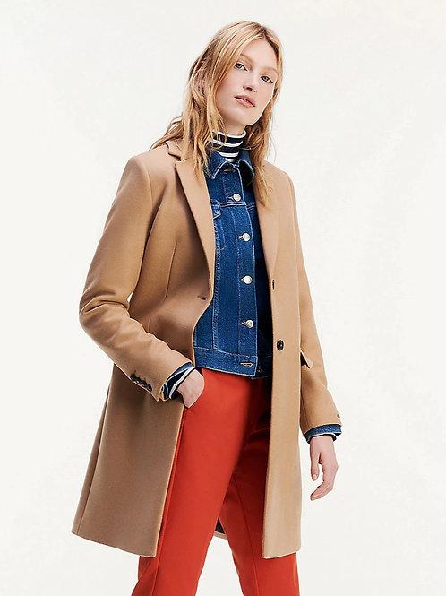Manteau beige en laine et cachemire - Tommy Hilfiger