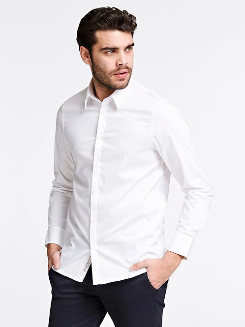 Chemise coupe slim blanche - Guess
