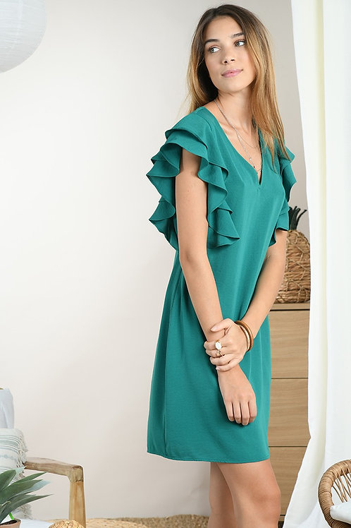 Robe courte verte   MOLLY BRACKEN