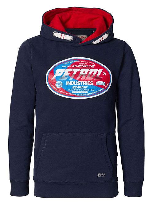 Pétrol Industrie sweat logo marine