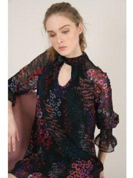 Robe courte imprimé fleuri - Molly Bracken