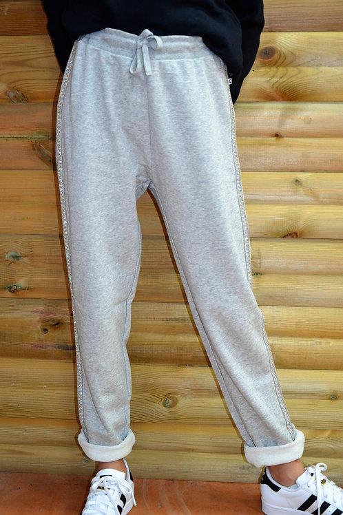 Pantalon de jogging avec strass - Le Temps des Cerises