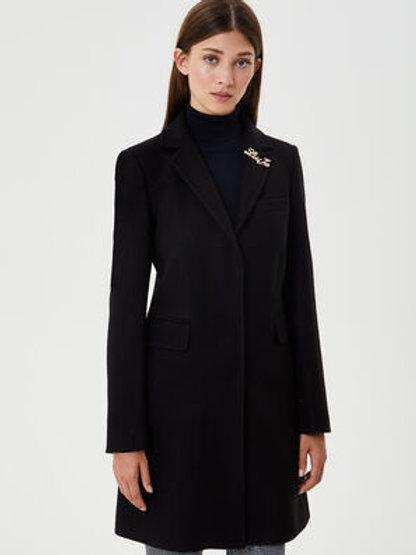 Manteau noir avec broche Liu Jo
