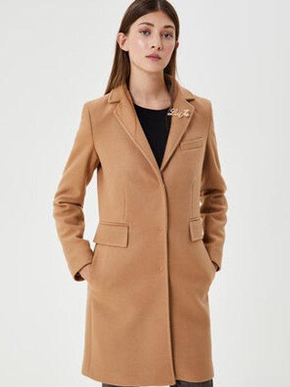 Manteau beige avec broche Liu Jo
