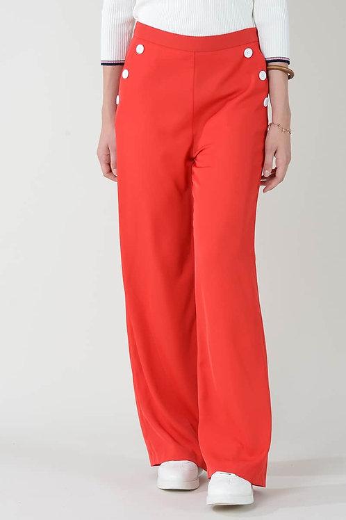 Pantalon  fluide rouge  MOLLY BRACKEN