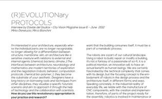 (R)EVOLUTIONary PROTOCOLS