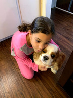 My daughter Aria, the dog whisperer