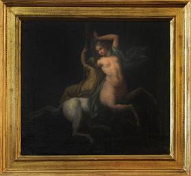 Coppia dipinti olio su tela  raffiguranti centauro e centauressa. Epoca fine XVIII secolo. Attribuito a Antonio Pazzaglia misure: 35x32 cm