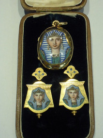 Parure in oro e smalto epoca napoleonica