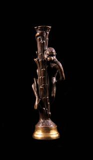 Scultura in bronzo sigillo. Francia, XIX secolo.