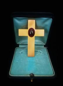 Croce in oro con granato - Mellerio dits Meller - rue de la paix Paris