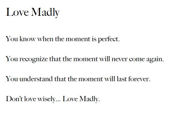Harry Winston Love Madly