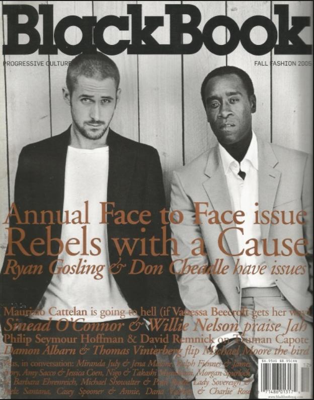 BlackBook Don Cheadle Ryan Gosling