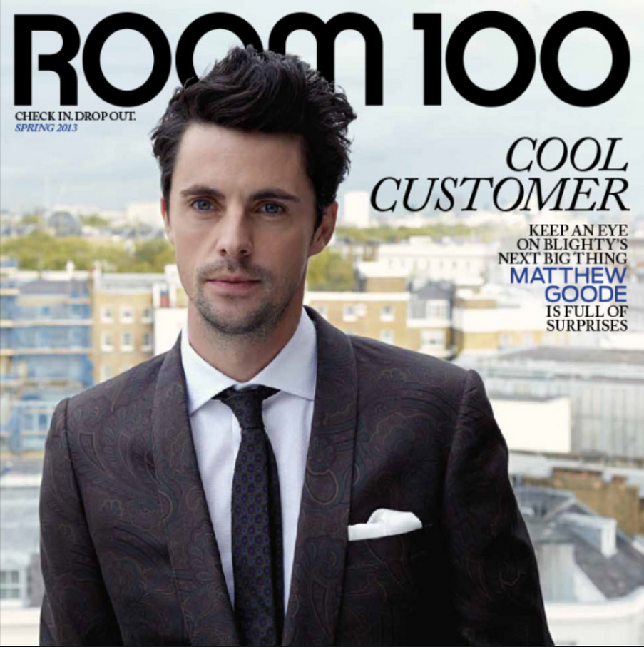 Room 100 Magazine Matthew Goode