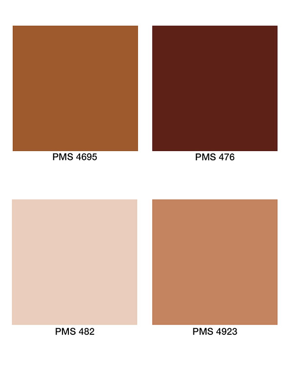 Colour Brown PMS shades of brown